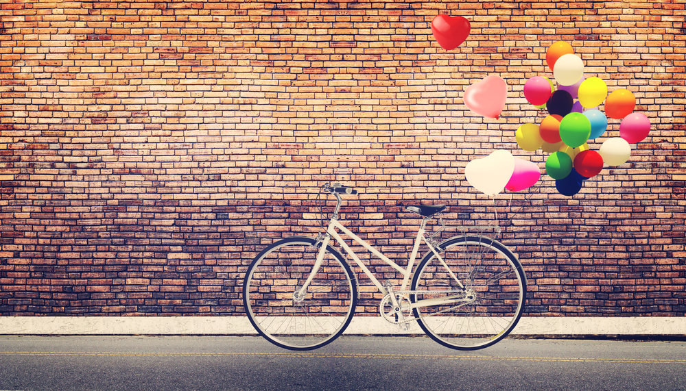 bike and balloons
